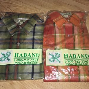 Other - Lot of 2 Men's Short Sleeve Button Down Shirts Med